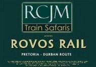 Rovos Rail - Pretoria to Durban Mini Brochure