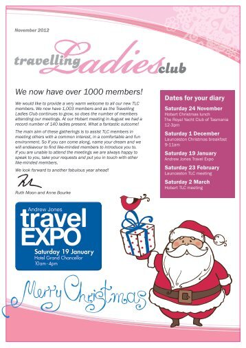 We now have over 1000 members! - Travelling Ladies Club