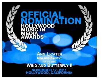 Download Nomination Cert - Music Awards Hollywood