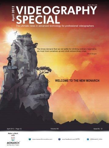Videography April 2012 - Monarch Innovative Technologies Pvt. Ltd.