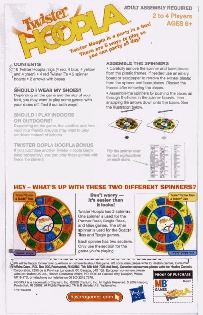 image regarding Twister Spinner Printable referred to as Twister Hype Directions - Hasbro