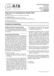 Hinweise zur Auswertung TX2/11 - des RfB