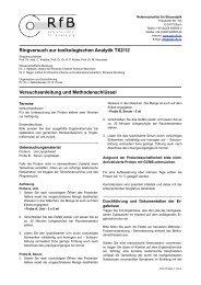 Ringversuch zur toxikologischen Analytik TX2/12 ... - des RfB