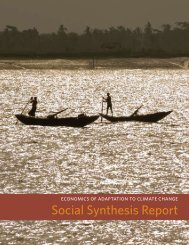 Social Synthesis Report - The World Bank - Climate Change