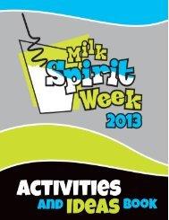 Milk Spirit Week Activities and Ideas Book. - Dairy Farmers of Manitoba
