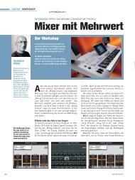 Mixer mit Mehrwert - Die Mixing Console im Tyros - MUSIC STORE ...