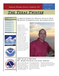 THE TEXAS TWISTER - National Weather Service Southern Region ...