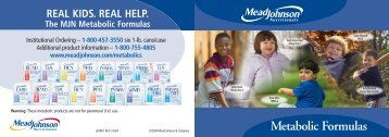 Metabolic Formulas - Mead Johnson Nutrition