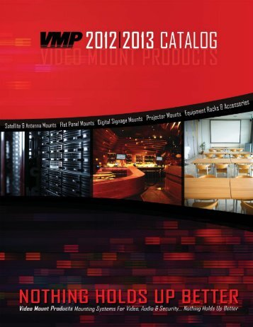 VMP 2012/2013 Catalog - Video Mount Products