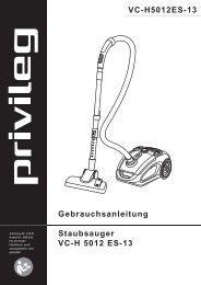Gebrauchsanleitung Staubsauger VC-H 5012 ES-13 VC-H5012ES-13