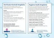 Sterilisator-Kontroll-Angebote Hygiene-Audit-Angebote - Almedica