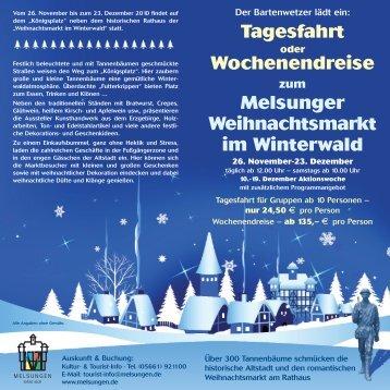 Weihnachtsmarkt Melsungen.Melsungen Magazine