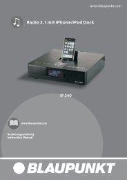 Radio 2.1 mit iPhone/iPod Dock - Blaupunkt