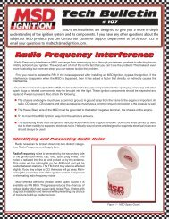 Tech Bulletin # 107 Radio Frequency Interference - MSD Ignition