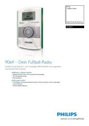 DA9011/02 Philips Tragbares Radio