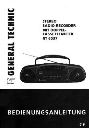 Stereo Radio-Recorder mit Doppel-Cassettendeck - Medion