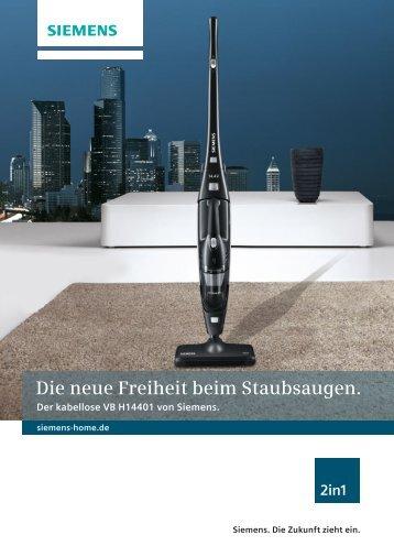 Die neue Freiheit beim Staubsaugen. - Siemens