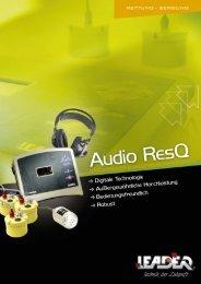 Broschüre Audio Res-Q - Leader