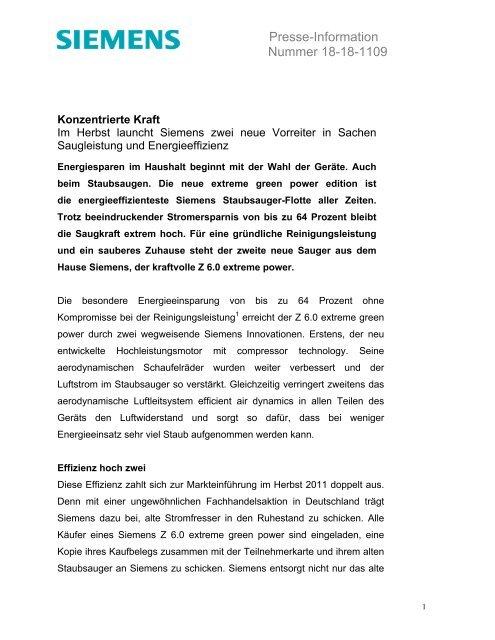 Presse-Information Nummer 18-18-1109 - Siemens