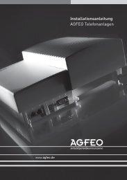 Installationsanleitung AGFEO Telefonanlagen