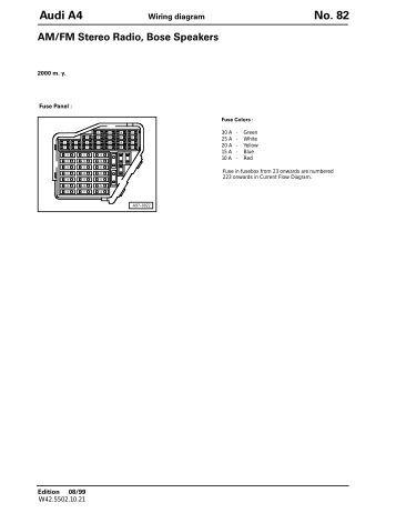 2000 audi a4 bose wiring diagram 1998 audi a4 radio wiring diagram 2008 a8 42 tdi quattro