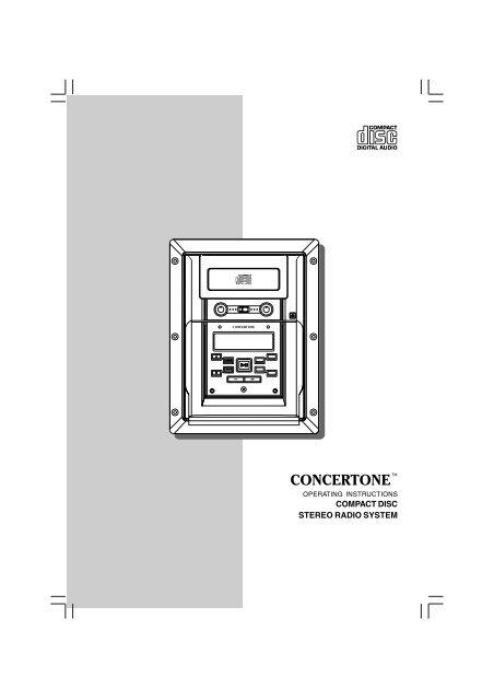 COMPACT DISC STEREO RADIO SYSTEM - ConcertoneYumpu