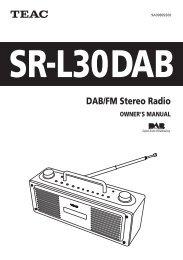 DAB/FM Stereo Radio - TEAC Europe GmbH