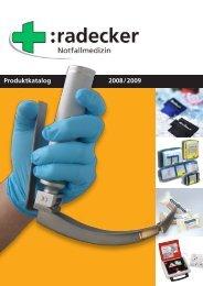 Produktkatalog 2008/2009 - Radecker Notfallmedizin