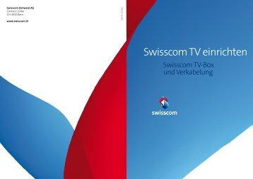 Swisscom TV einrichten