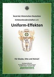 Uniform-Effekten - Bund der Historischen Deutschen ...
