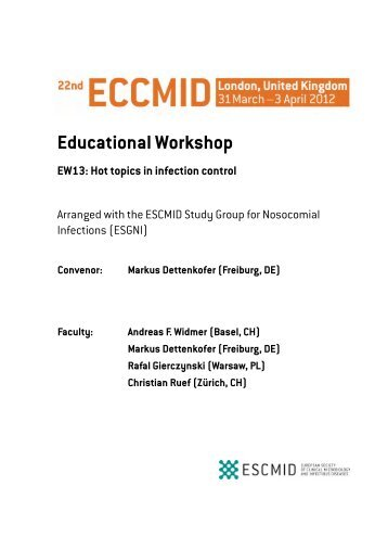 Educational Workshop EW13: Hot topics in infection control