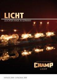 LEUChTEn mAdE in GErmAny - CHAMP Licht