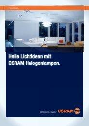 Helle Lichtideen mit OSRAM Halogenlampen.
