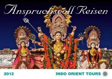 2012 INDO ORIENT TOURS - INDO ORIENT TOURS GmbH