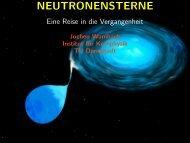 Neutronensterne – Eine Reise in die Vergangenheit - Ausstellung ...