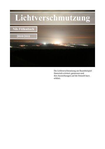 Facharbeit Lichtverschmutzung