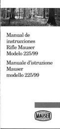 Page 1 Manual de instrucciones Rifle Mauser Modelo 225/99 ...