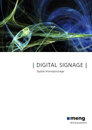   DIGITAL SIGNAGE   - meng Informationstechnik