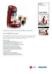 HD7850/80 SENSEO® Coffee pod system - Philips