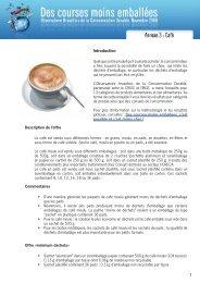 Emballage et café - Crioc