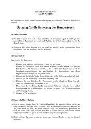 Satzung Hundesteuer - Gemeinde Mengkofen