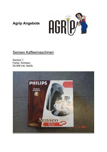 Agrip Angebote Senseo Kaffeemaschinen