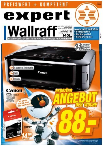 5 separate Tintentanks Duplex WiFi - expert Wallraff Leverkusen
