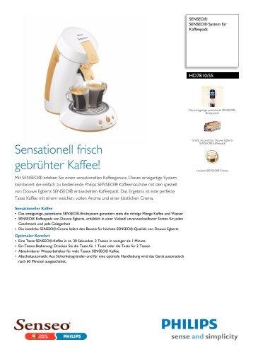 HD7810/55 SENSEO® SENSEO® System für Kaffeepads