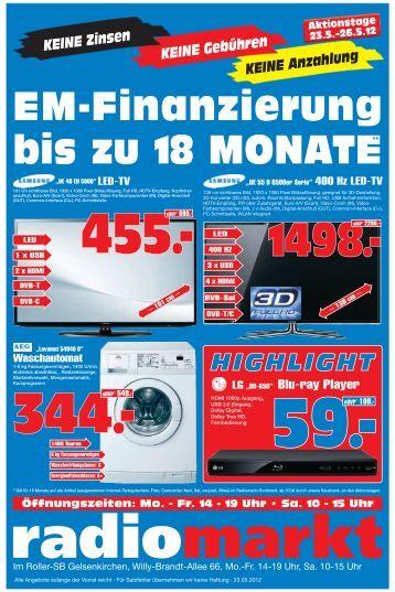 KEINE Anzahlung KEINE Gebühren KEINE Zinsen - Radiomarkt