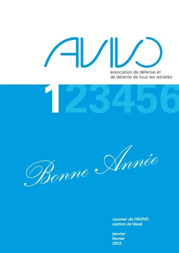 Courrier numéro 1 - Avivo Vaud