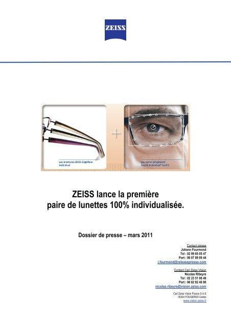 ZEISS lance la première paire de lunettes 100 ... - Menrad