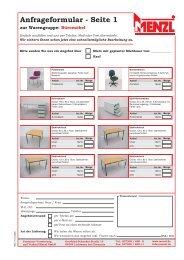 Anfrageformular - Seite 1 - Container Menzl