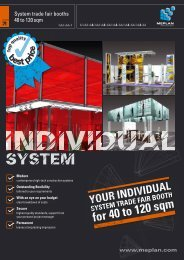 System trade fair booths 40 to 120 sqm - Meplan