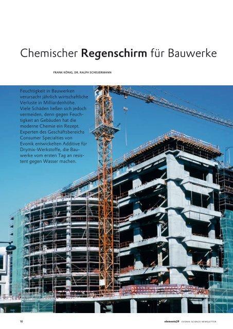 Chemischer Regenschirm für Bauwerke - Construction Chemicals